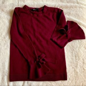 Cranberry Bell Sleeve Sweater